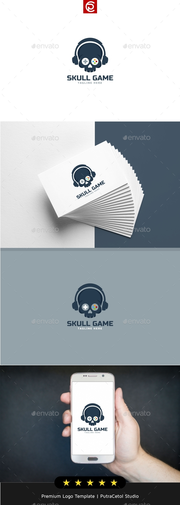 Skull Game Logo - Objects Logo Templates