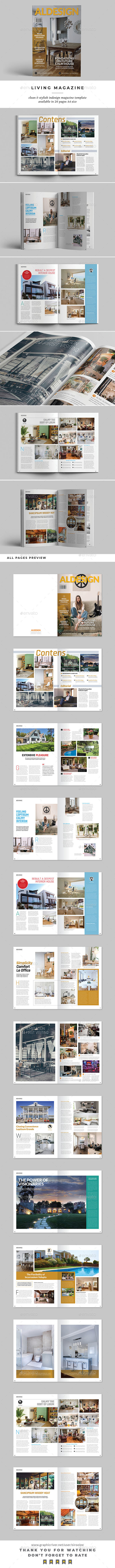 Living Magazine - Magazines Print Templates