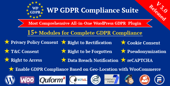 WP GDPR Compliance Suite WordPress Plugin - CodeCanyon Item for Sale