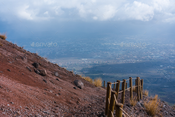 trail on a mountainside - Stock Photo - Images