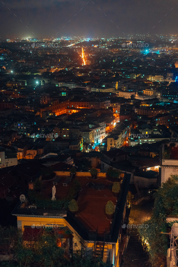 panorama of the night city - Stock Photo - Images