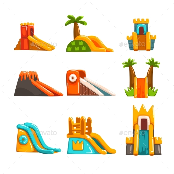Inflatable Slides Set - Man-made Objects Objects