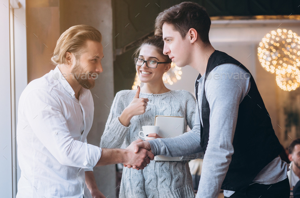 Business handshake and business people concept - Stock Photo - Images
