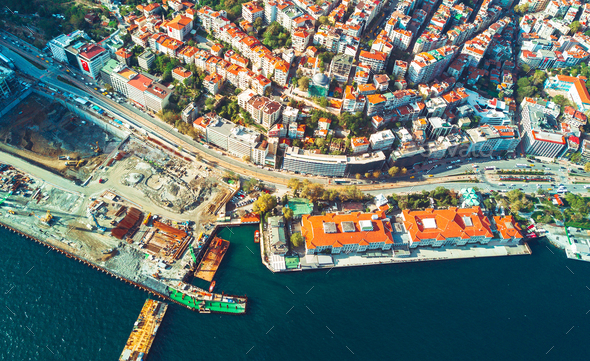 Aerial view of Istanbul - Stock Photo - Images