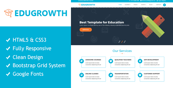Image of EduGrowth - Education HTML5 Responsive Template