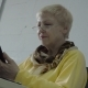 Senior Woman Use Phone in the Office - VideoHive Item for Sale