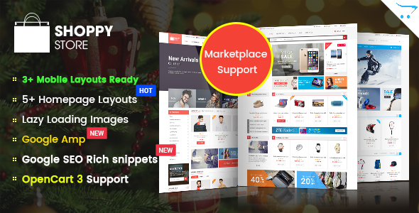 ShoppyStore - Responsive Multipurpose Marketplace OpenCart 3 and 2.x Theme - Shopping OpenCart