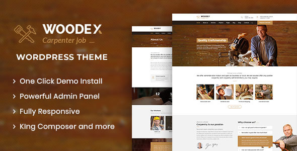 Woodex – Carpenter and Craftman Business WordPress Theme