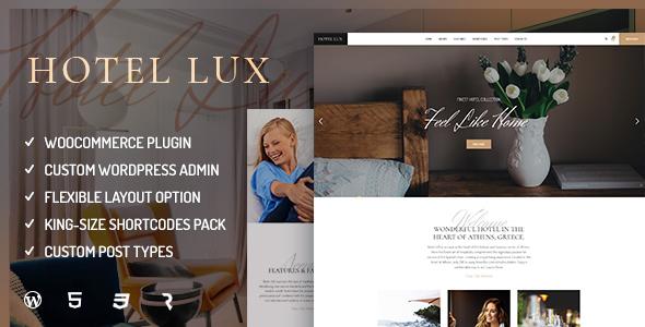 Hotel Lux - Resort & Hotel WordPress Theme - Travel Retail