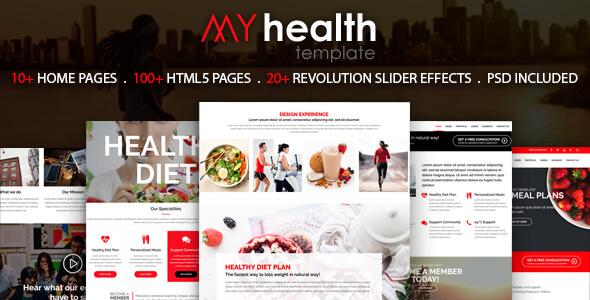 My Health – HTML5 Responsive Multi-Purpose Template