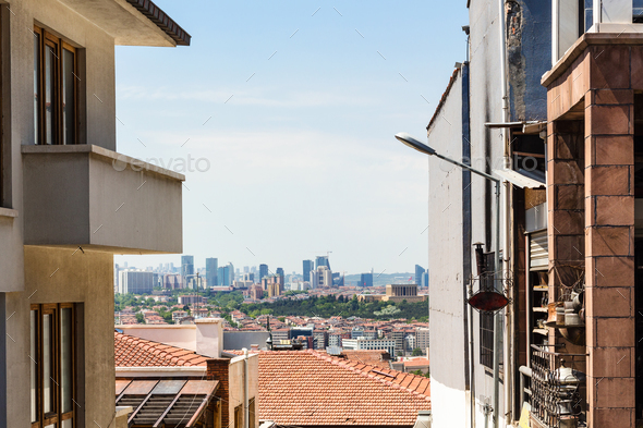 view of Ankara city in spring - Stock Photo - Images