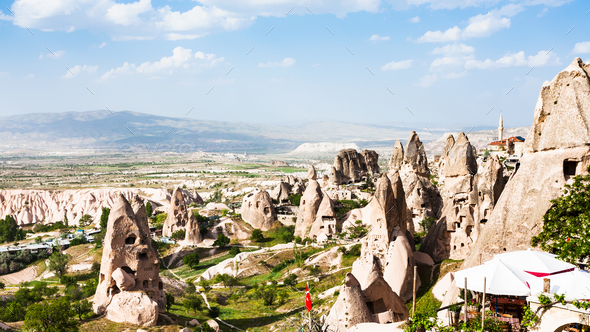 rocks near Uchisar castle in Cappadocia - Stock Photo - Images