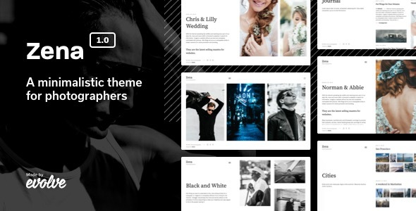 Image of Zena, a minimalistic theme for photographers