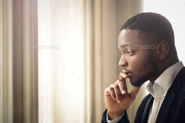 Thoughtful man - Stock Photo - Images