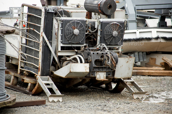 Mobile diesel generator - Stock Photo - Images