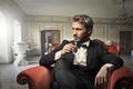Elegant man with a drink