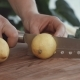 Female Hands Cutting Fresh Lemons on Cutting Board - VideoHive Item for Sale