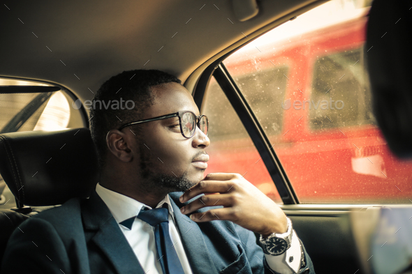 Man in a car - Stock Photo - Images