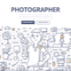 Photographer Doodle Concept - GraphicRiver Item for Sale