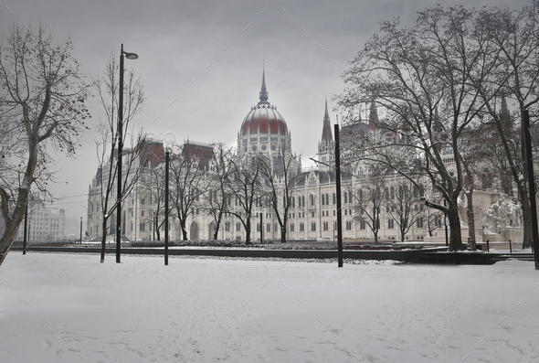 Budapest Parliament  - Stock Photo - Images