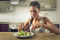 Girl eating a salad - PhotoDune Item for Sale