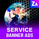 Technology Ad Banner Set - Development Services - GraphicRiver Item for Sale
