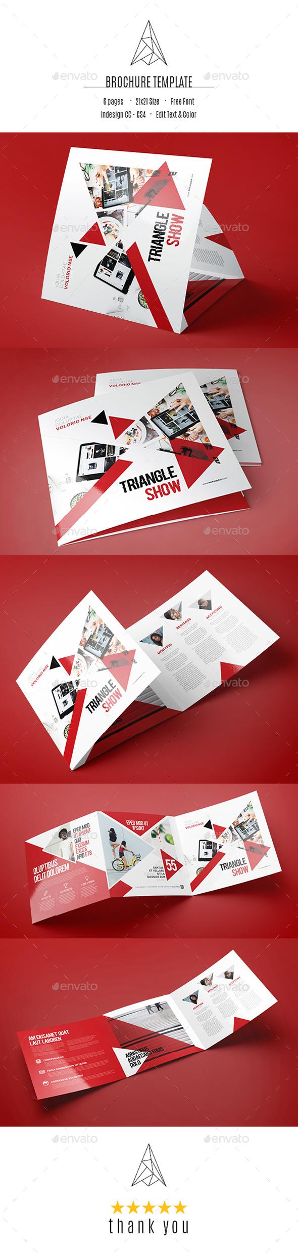 Brand Square Tri-Fold Brochure - Brochures Print Templates