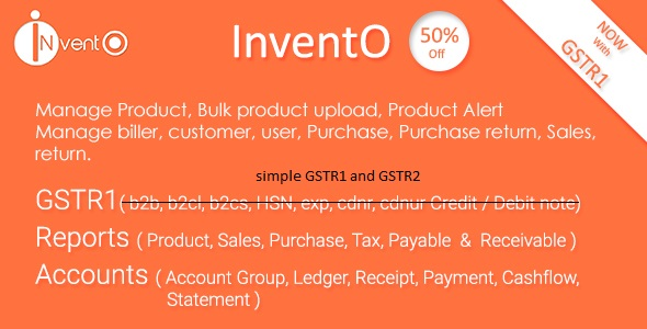 InventO - Accounting | Billing | Inventory  (GST Compliance with GSTR1 & GSTR2 Integrated) - CodeCanyon Item for Sale