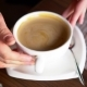 Waiter Takes a Cup of Coffee with Saucer and Spoon - VideoHive Item for Sale