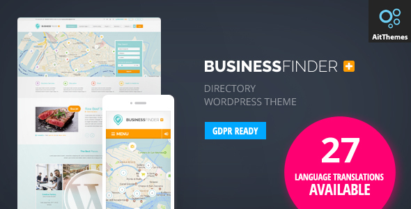 Business Finder: Directory Listing WordPress Theme - Directory & Listings Corporate