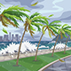 Seaside Landscape with Storm in Ocean - GraphicRiver Item for Sale