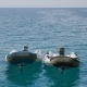 Two Empty Zodiac Boats in the Sea - VideoHive Item for Sale