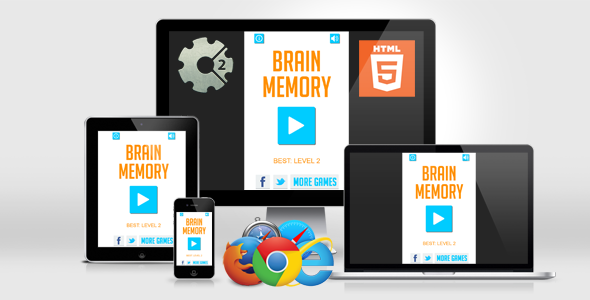 Brain Games - Pattern Memory HTML5 Game            Nulled