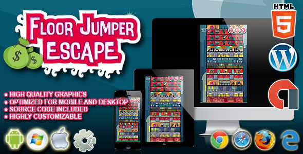 Floor Jumper Escape - HTML5 Construct 2 Skill Game - CodeCanyon Item for Sale