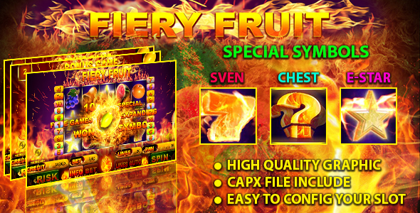 Fiery Fruit Slot - CodeCanyon Item for Sale