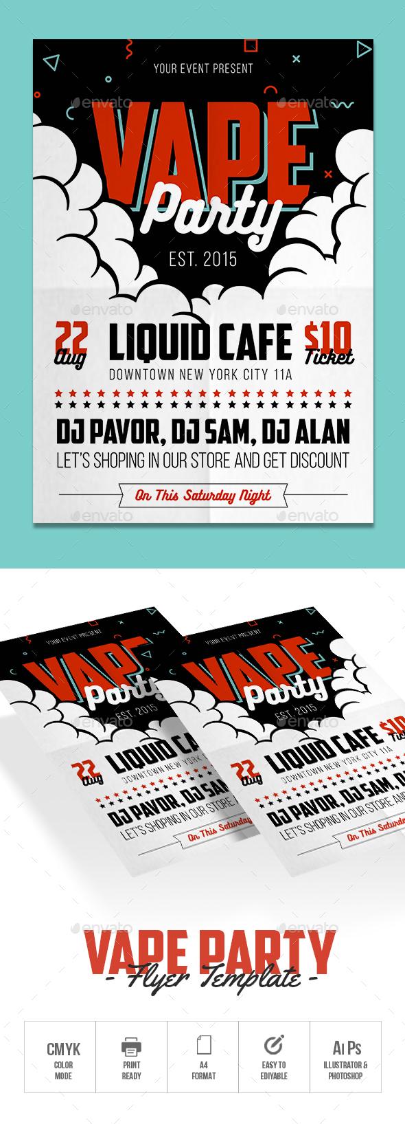 Vape Party Flyer - Events Flyers