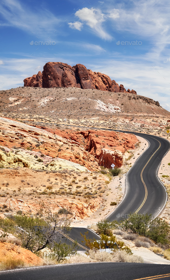 Scenic winding road. - Stock Photo - Images