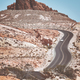 Retro toned picture of a scenic winding road. - PhotoDune Item for Sale