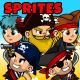Pirate Adventure 2D Game Character Sprites