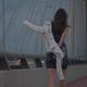 Girl Walking on the Bridge - VideoHive Item for Sale