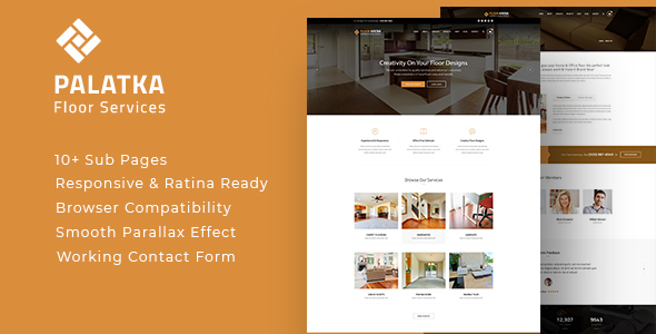 Image of Palatka : Floor and Paving Service HTML Template