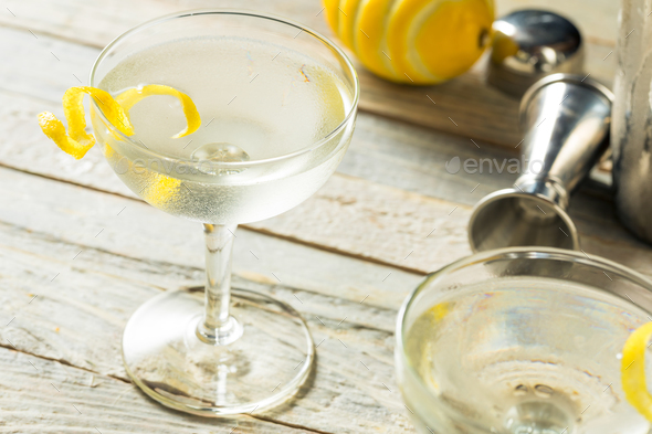 Homemade Alcoholic Vesper Martini - Stock Photo - Images
