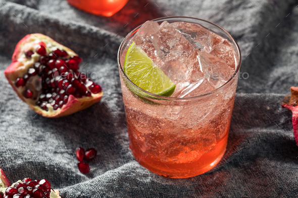 Sweet Homemade Pomegranate Grenadine Cocktail - Stock Photo - Images