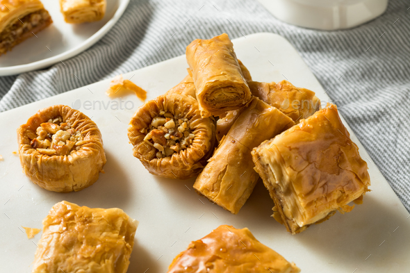 Homemade Turkish Baklava Pastries - Stock Photo - Images