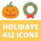 432 Holidays Icons