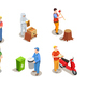 Applicable Professions Isometric Set