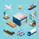 Logistics Isometric Infograhics - GraphicRiver Item for Sale