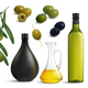 Olives and Oil Realistic Set