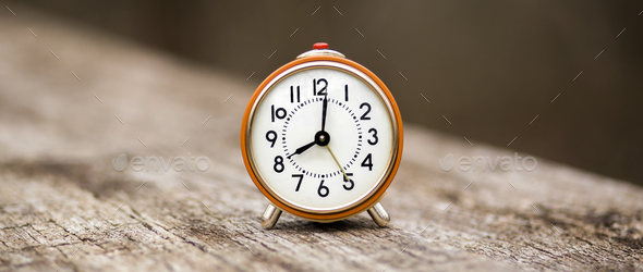 Alarm clock banner  - Stock Photo - Images