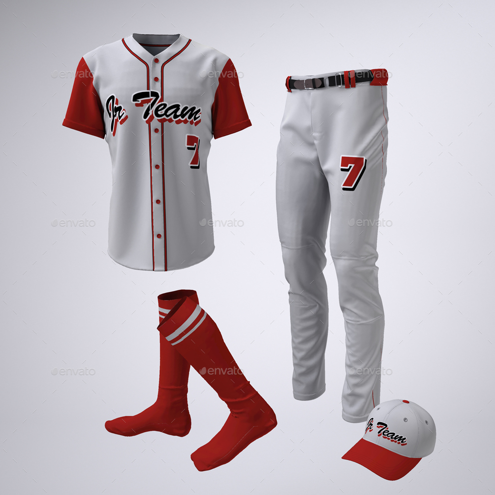 f18049588 Baseball Team Jerseys and Uniform Mock-up by Sanchi477